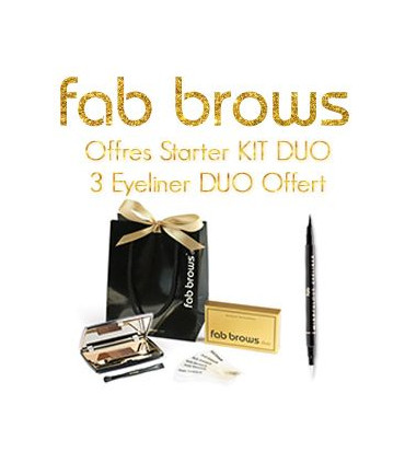 Offre Starter kit DUO + Eyeliner - Fab Brows