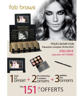 Présentoir 20 kits DUO - fab brows