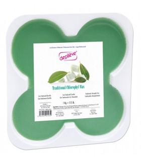 Cire traditionnelle à la chlorophylle - 8 galets de 125g - Depilève