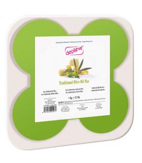 Cire traditionnelle à l'huile d'olive - 8 galets de 125g - Depilève