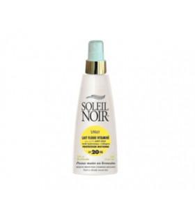 Spray Lait fluide vitaminé 20 protection moyenne - SOLEIL NOIR