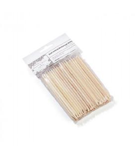 Bâtonnets en bois de boulot 100 pièces - Beautiful Brows & Lashes