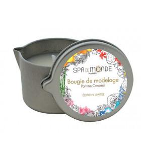 Bougie de modelage Pomme-Caramel - Spa Du Monde