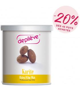 Cire extra film au  beurre de karité - Pot de 800g sans bandes - Depilève