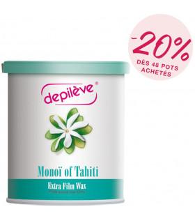 Cire extra film monoï  de Tahiti - Pot de 800g sans bandes - Depilève