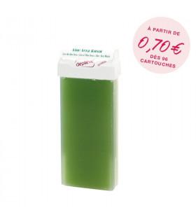 Cire à épiler naturelle aloe vera - Cartouche 100g avec bandes - Depilève