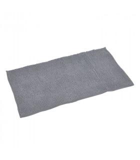 Tapis de bain microfibre gris
